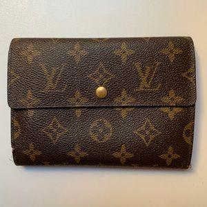 LOUIS VUITTON Brown Trifold Wallet